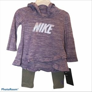 Nike Kids 2 Pieces Set in Purple and Gray Dri-Fit